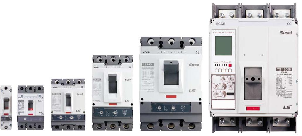 Низковольтные автоматические выключатели серии Susol MCCB