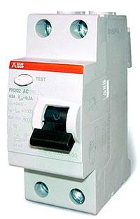Выключатель дифференциального тока серии FH200 производства АББ
