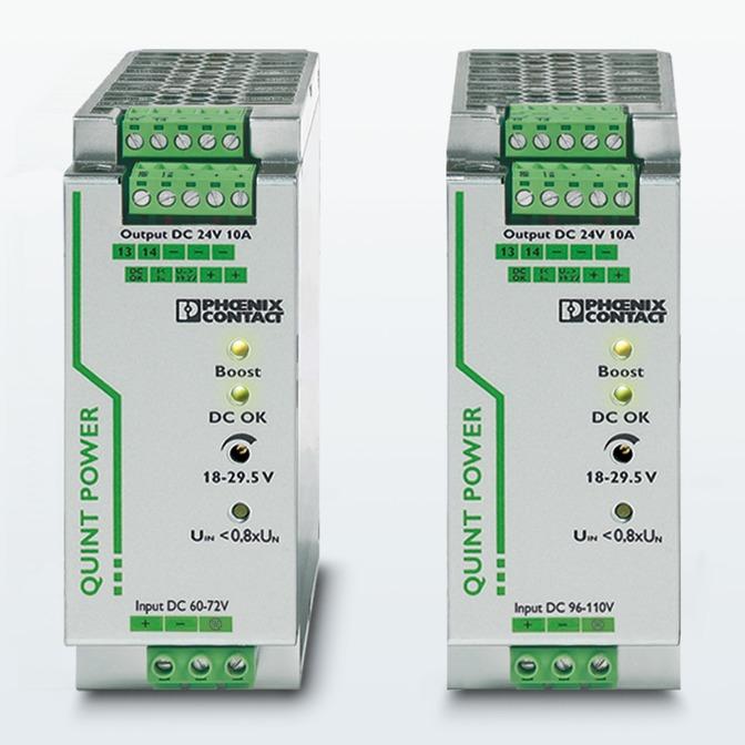 Новые преобразователи постоянного тока семейства QUINT POWER