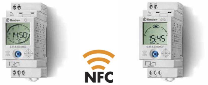Реле времени от Finder программируемые с помощью смартфона по технологии NFC