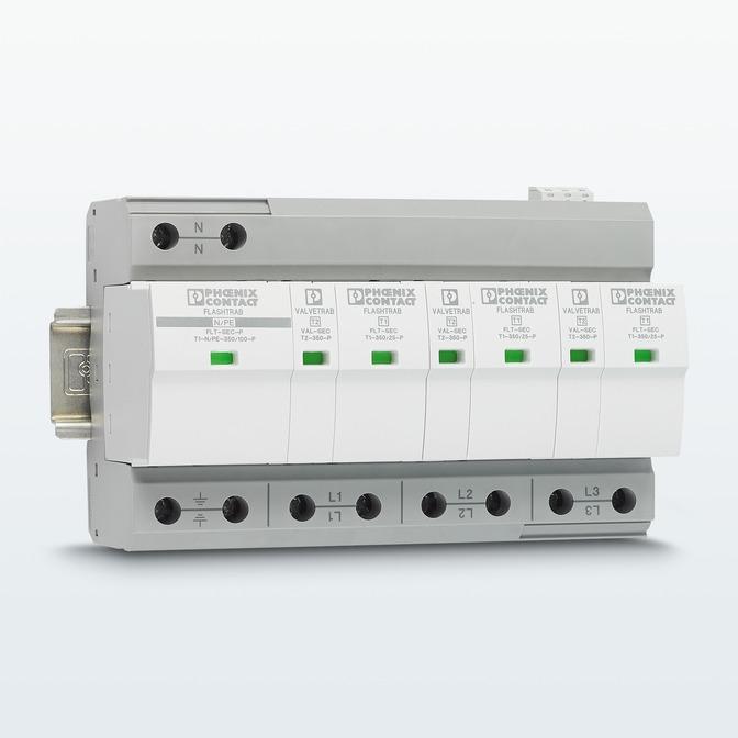 Комбинация грозозащитных разрядников с технологией SEC для 5-проводных сетей